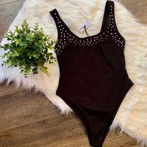 NWT Zara embellished bodysuit